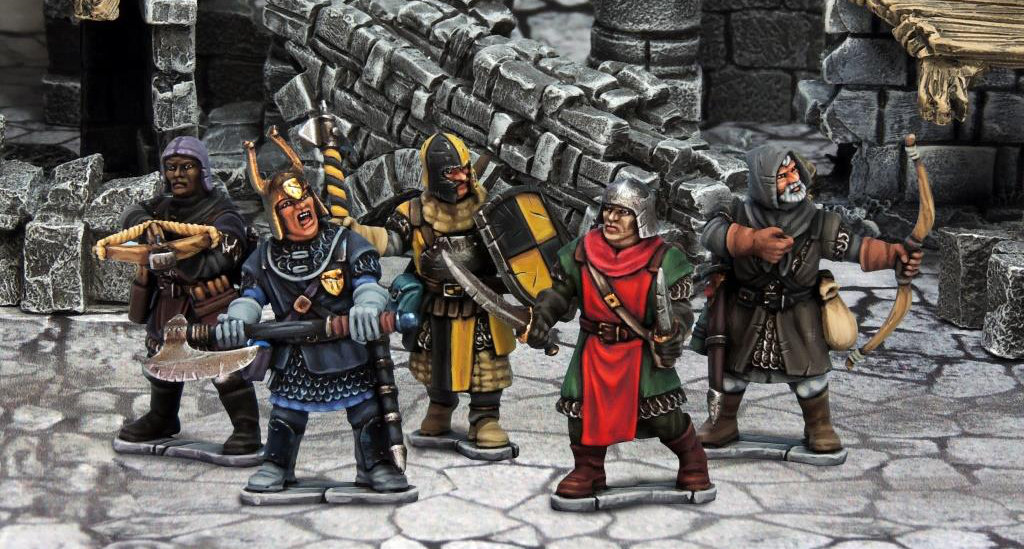 Plastic Frostgrave knights preview shot