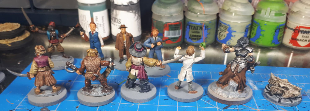 The backs of the miniatures