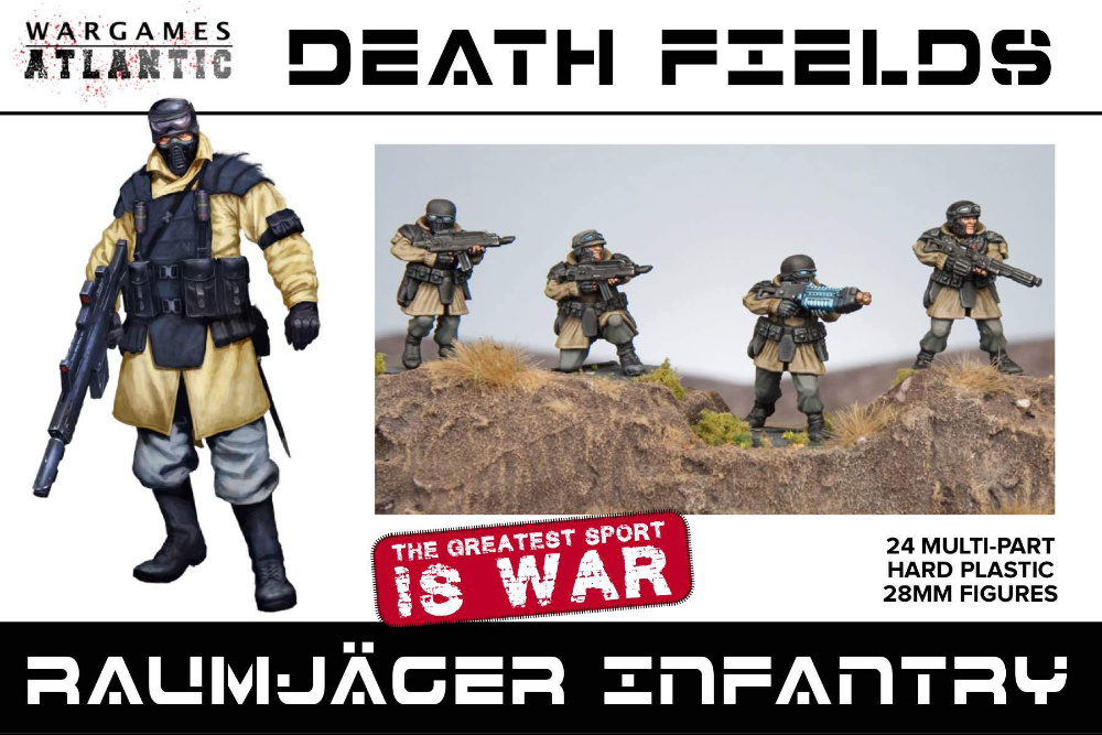 Box Art - Raumjager Infantry Death Fields Miniatures by Wargames Atlantic