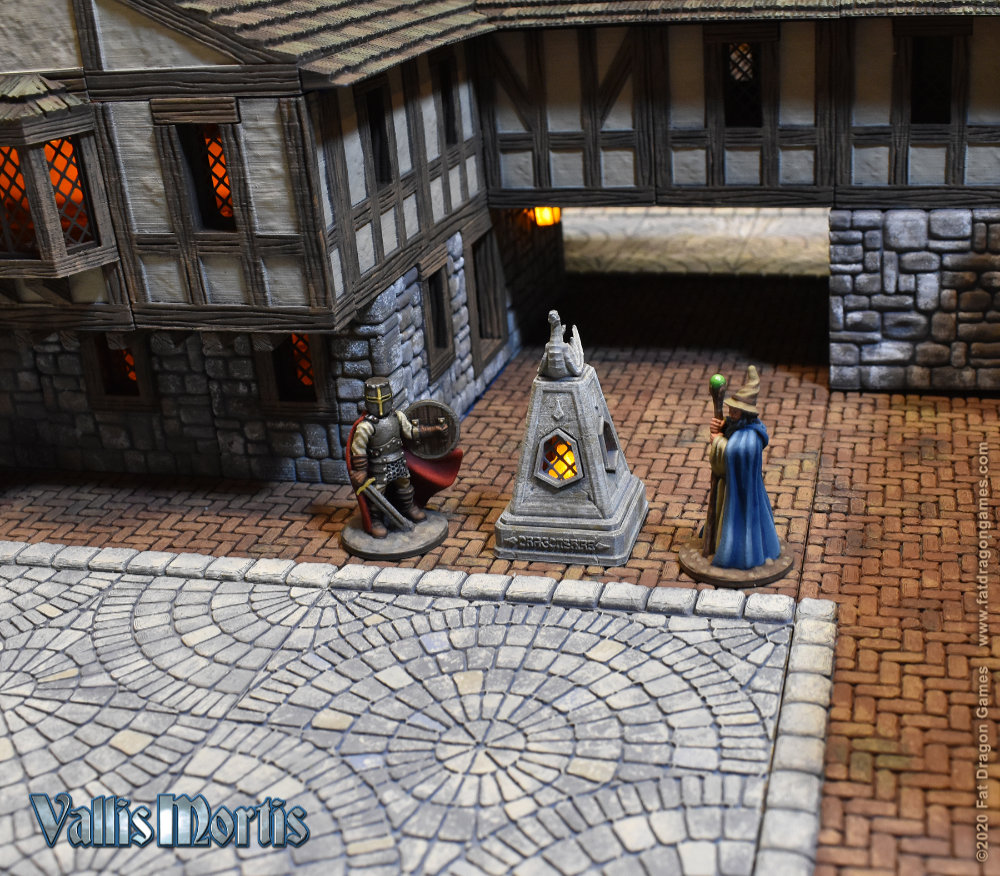 A 3D Printed village for Wargames and Role Playing Games (RPGs)