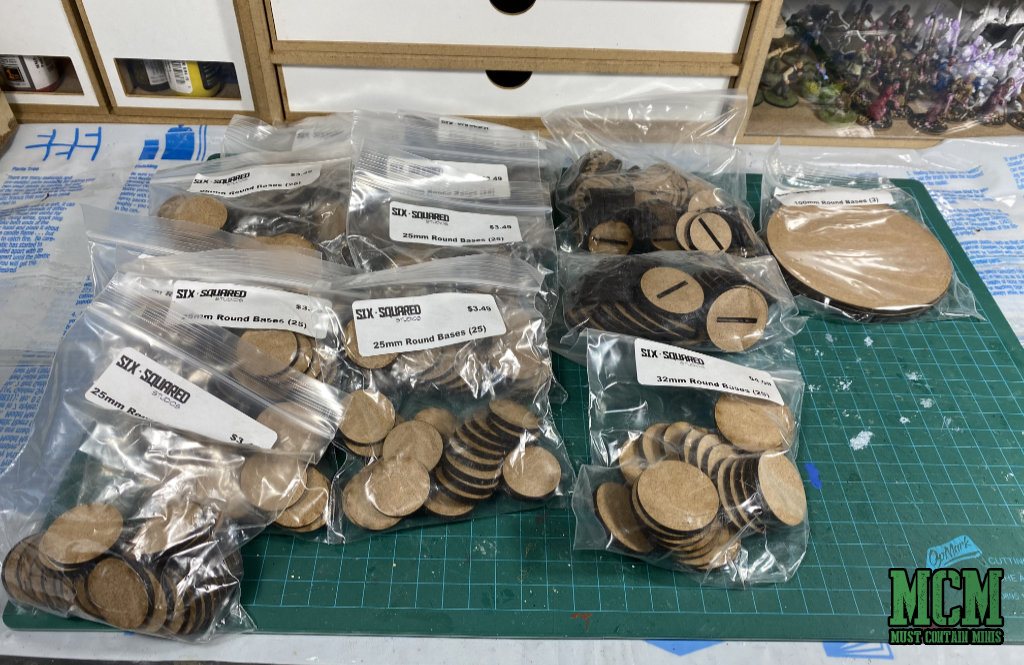 25mm and 32mm MDF Bases Review - Six Squared Studios