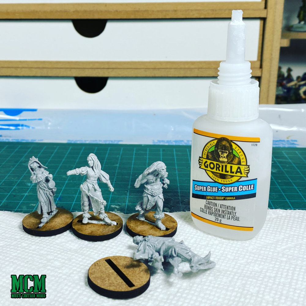 Using Gorilla Brand Super Glue to assemble resin Miniatures