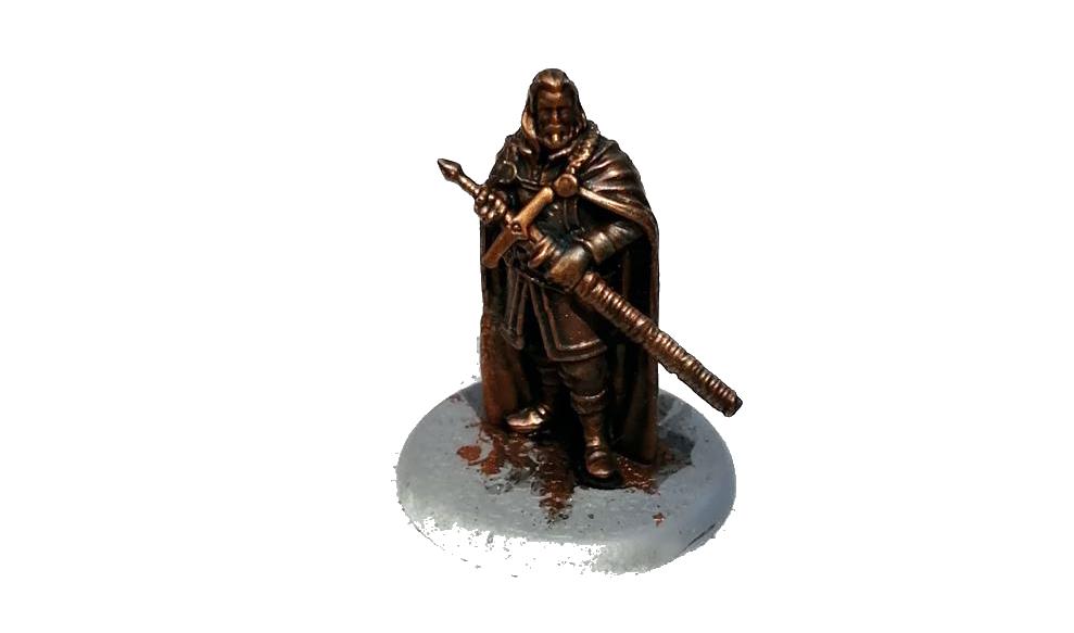 Eddard Stark as a bronze statue
