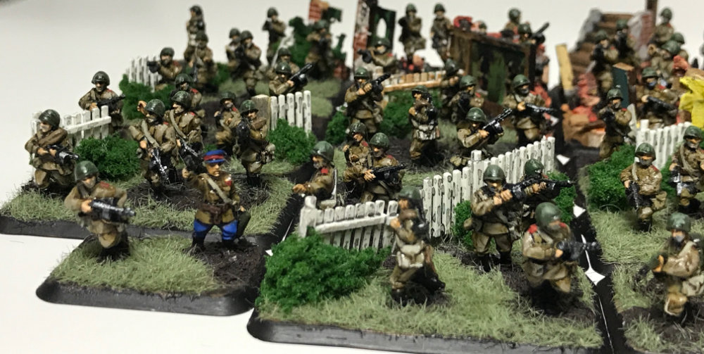Russian SMG Platoon painted by Brenden Brown