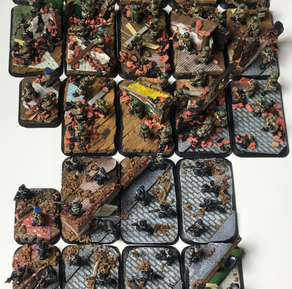 Flames of War Diorama Basing Miniatures for wargaming