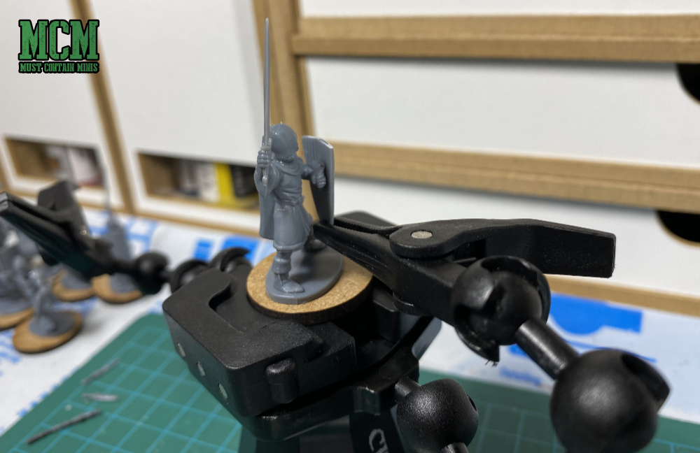 Attaching Shields to 28mm miniatures
