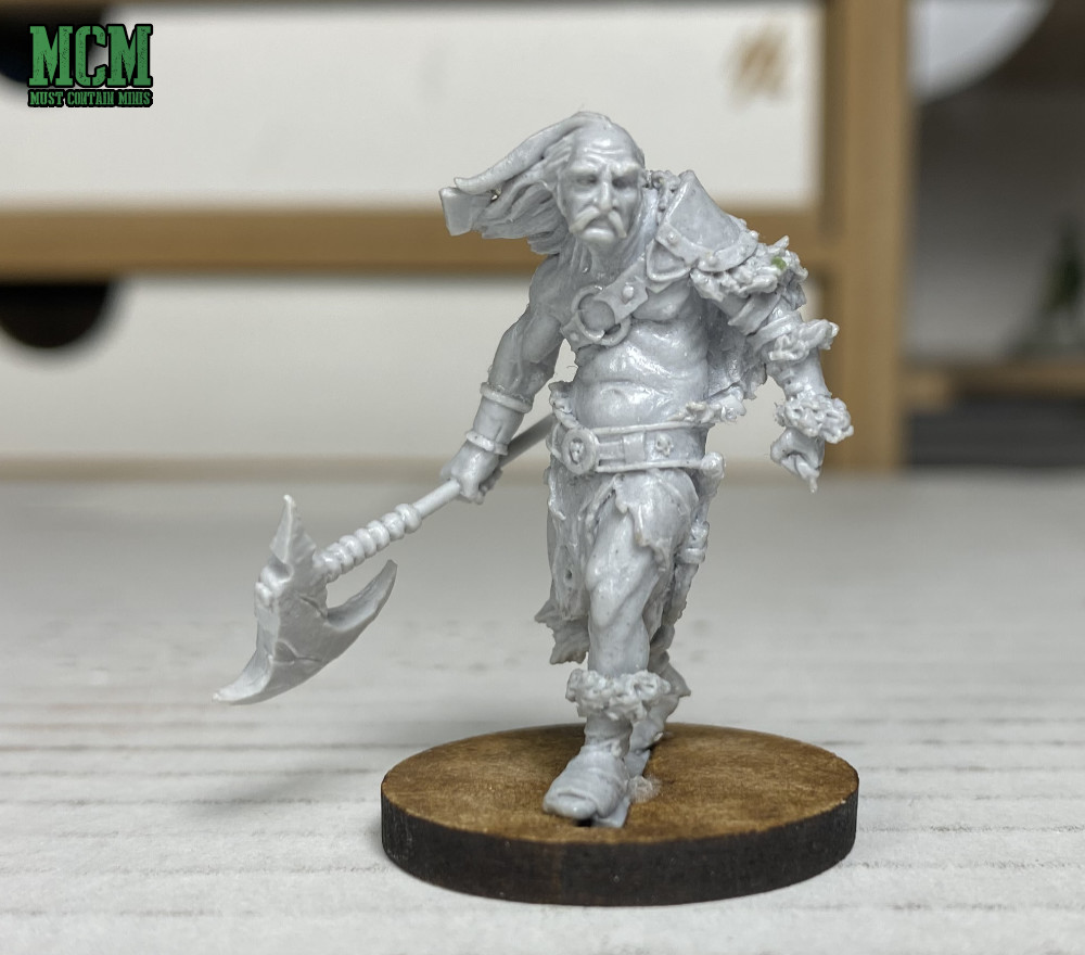 "Male Human Barbarian ""Grandfather Bullrog"" - 32mm miniature"