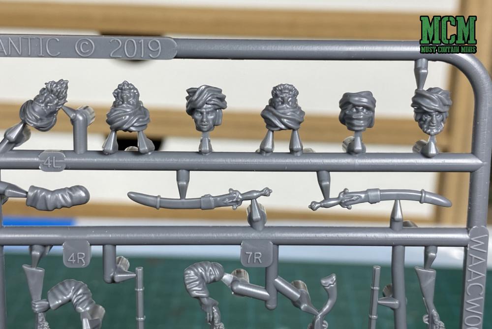 Wargames Atlantic Afghan Warriors Review - heads on sprue