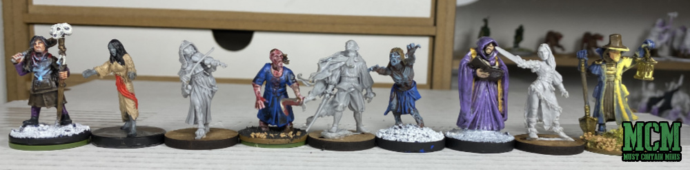 Westfalia Miniatures Scale Comparison Image - Frostgrave - North Star Military Figures - Dungeons and Dragons - Mantic Games - Reaper Miniatures