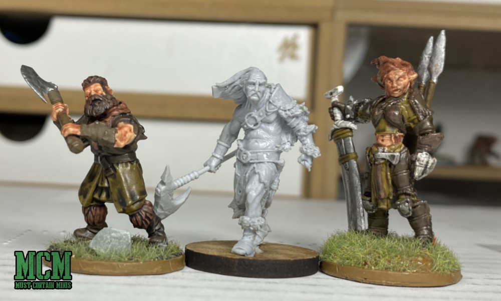 Westfalia Miniatures Scale Comparison - Frostgrave and Reaper.