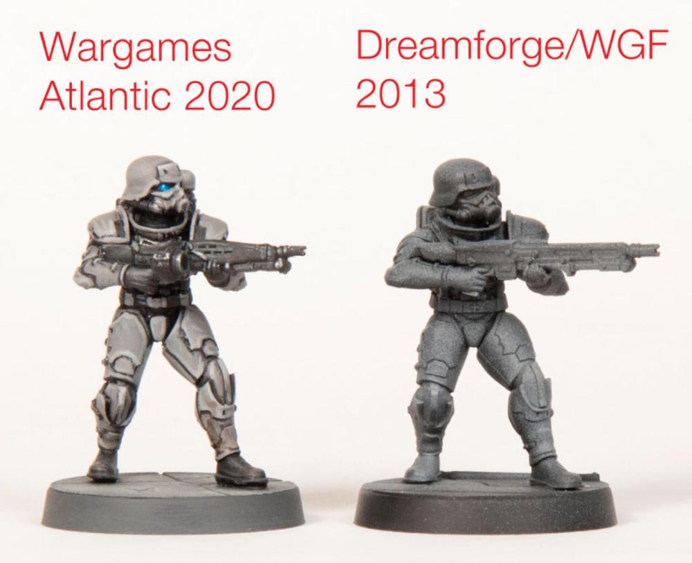 Eisenkern Models Wargames Atlantic versus Dreamforge Model Changes