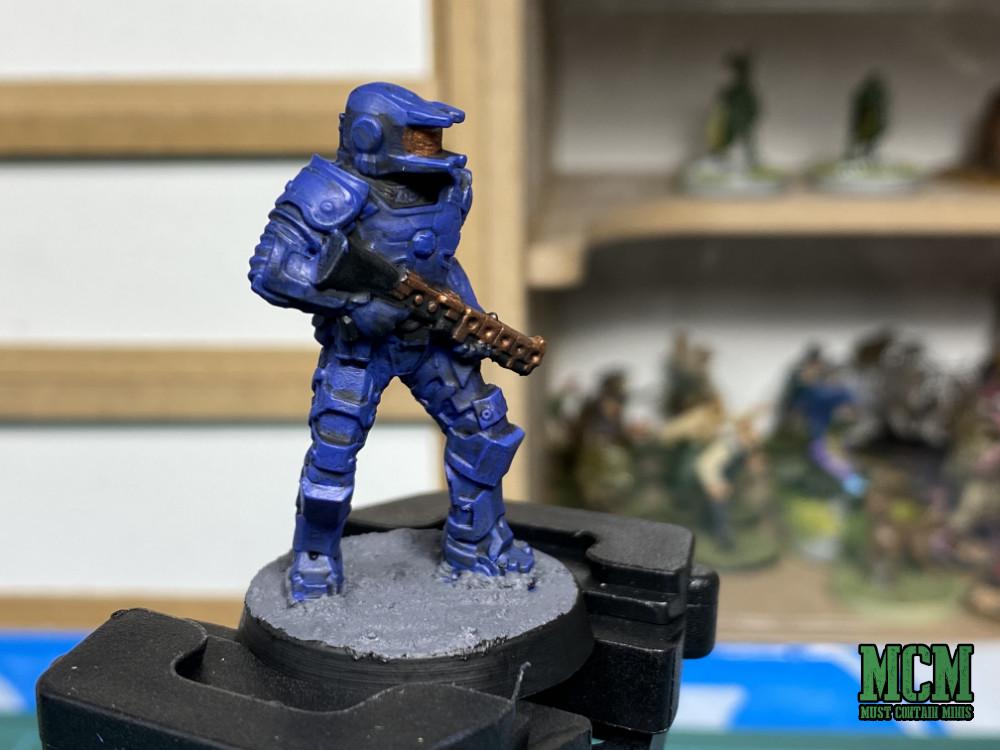 A Painted Legions of Steel Miniature