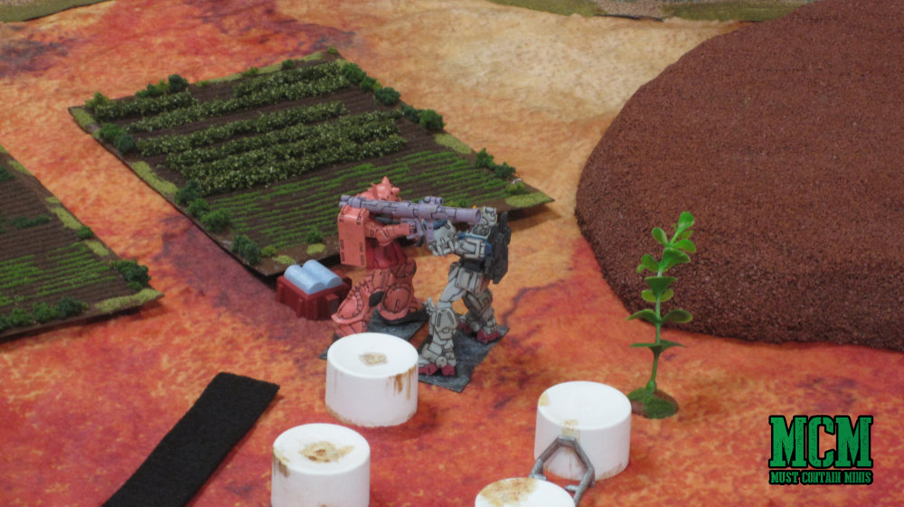 Two mechs battle it out in melee combat