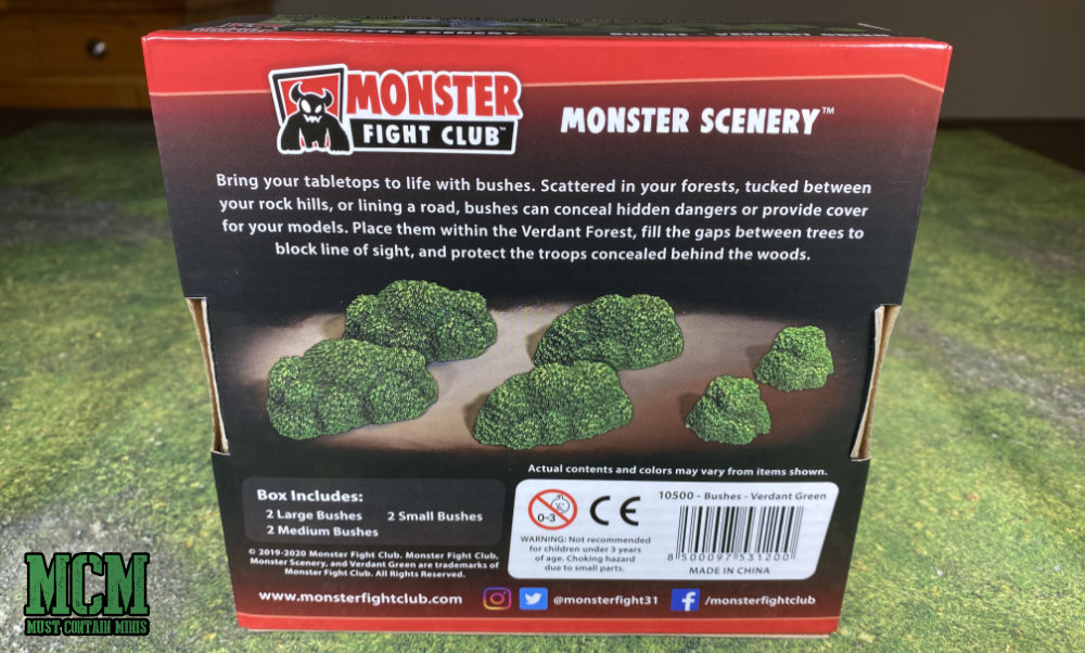 Monster Scenery Bushes Review - Wargame terrain