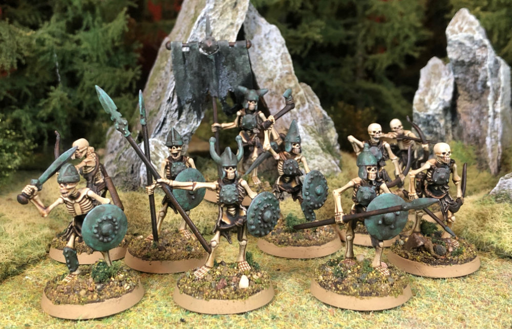 Skeleton warband by North Star Military figures and Osprey games