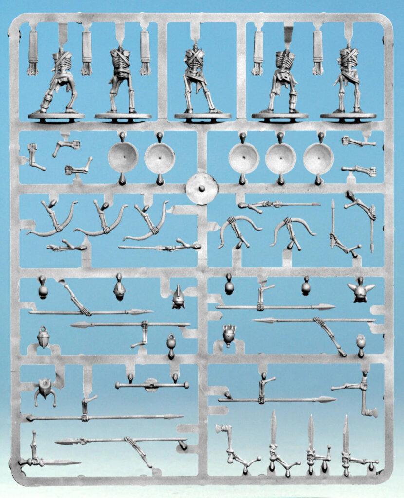 Oathmark Skeleton Infantry - plastic frame back side