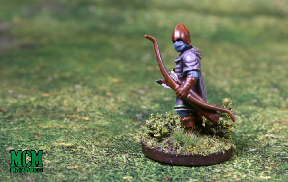 28mm elf infantry with a leather helmet