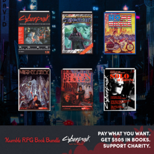 Humble Bundle CyberPunk Side Bar Ad