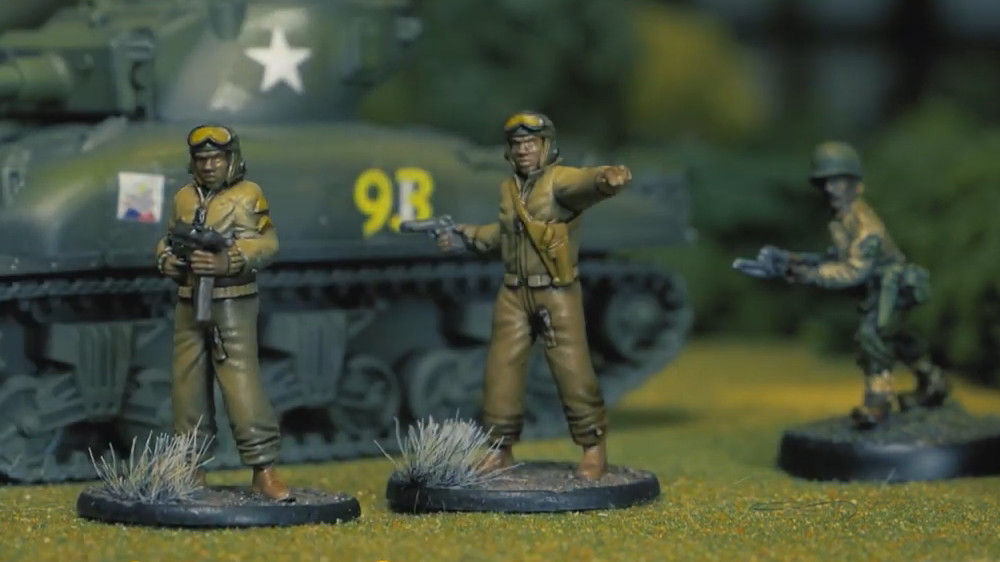 Gaddis Gaming 761st all African American 28mm miniatures - WW2