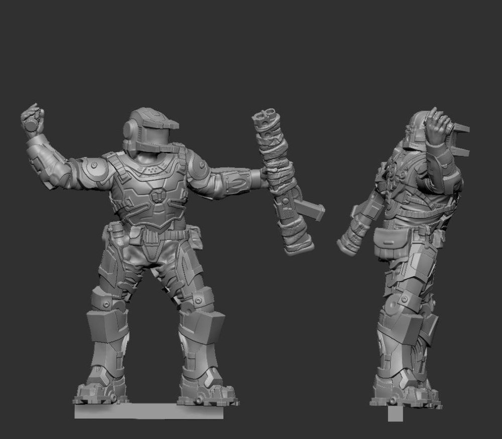 Sample Miniature by Raybox Games