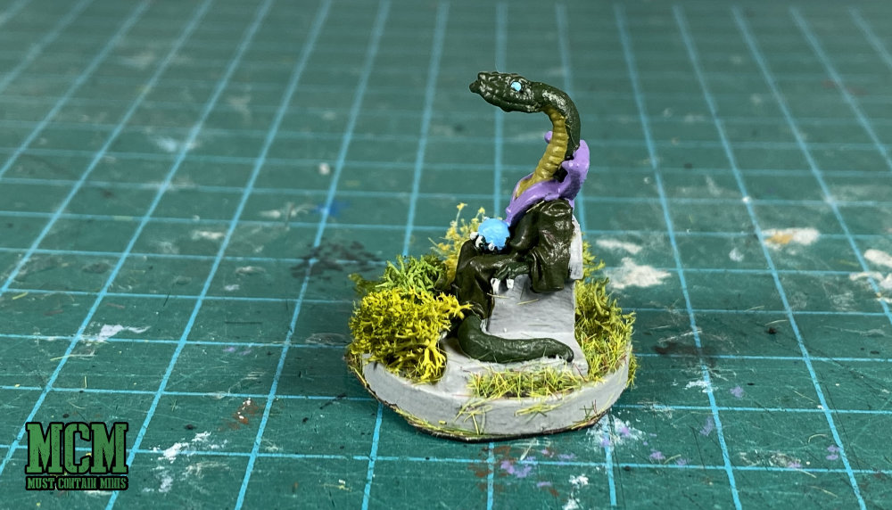 Serpent man wizard or cult leader miniature