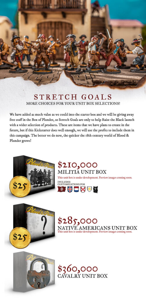 Blood & Plunder Raise the Black Kickstarter Goals - 48 hours left