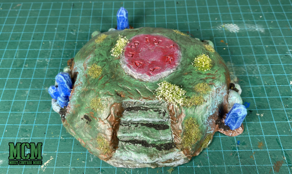 28 mm Terrain review - summoning mound - magical ruins